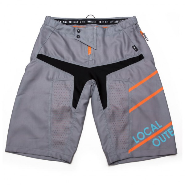 Local - Bike Shorts Stream Radhose Gr S;XL grau