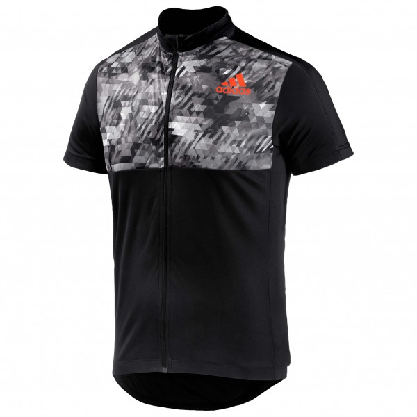 adidas Trail Race S-S Jersey Fietsshirt maat L zwart-grijs