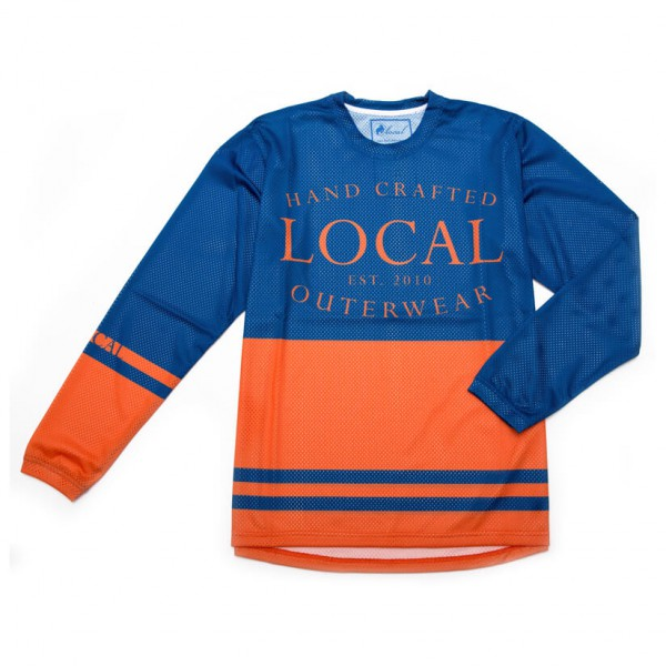 Local - L/S Jersey Retro Radtrikot Gr L;M;S;XS blau/orange