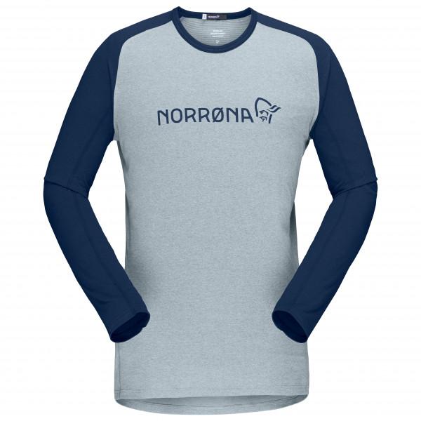#Norrøna – Fjørå Equaliser Lightweight Long Sleeve – Radtrikot Gr XL grau/blau#