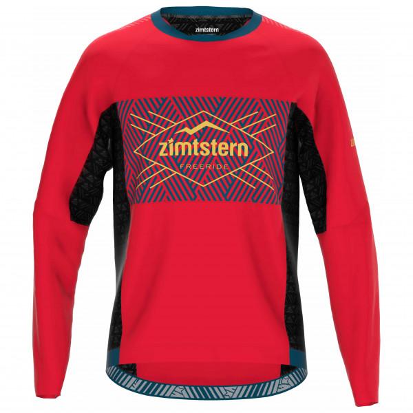 Zimtstern - Techzonez Shirt L/S - Radtrikot Gr M rot M10051-5002-03