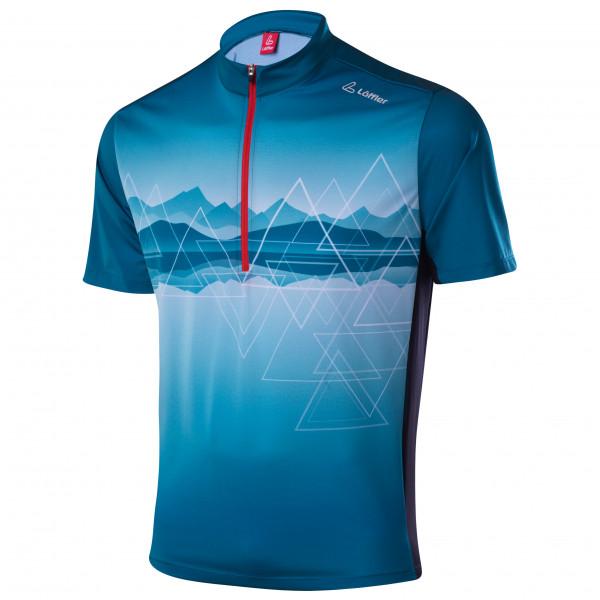 Lffler - Bike Shirt Half-zip Peaks - Cycling Jersey Size 60  Blue