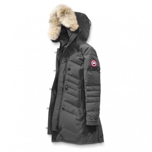 Canada Goose - Ladies Lorette Parka - Mantel Gr L schwarz/grau Preisvergleich