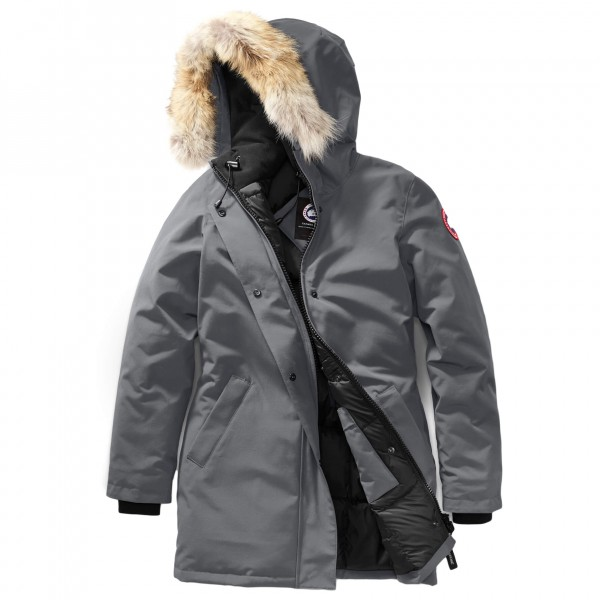 Canada Goose - Ladies Victoria Parka - Mantel Gr L grau/schwarz 3037L-120