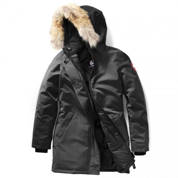 Canada Goose - Ladies Victoria Parka - Mantel Gr L;S schwarz;grau/schwarz 3037L