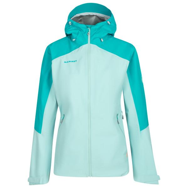 Mammut - Womens Convey Tour Hs Hooded Jacket - Waterproof Jacket Size Xs  Turquoise/grey