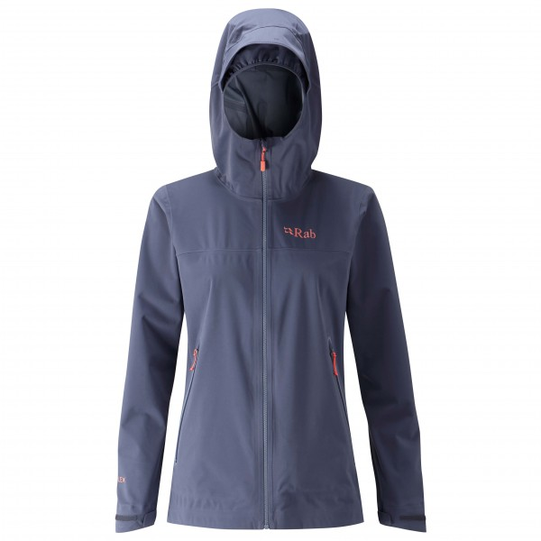 Rab - Women´s Kinetic Plus Jacket Softshelljacke Gr 10;12;14;16;8 blau/schwarz/grau;türkis