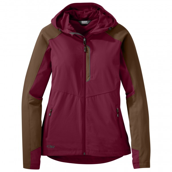 Outdoor Research - Women´s Ferrosi Hooded Jacket Gr M lila/braun Preisvergleich