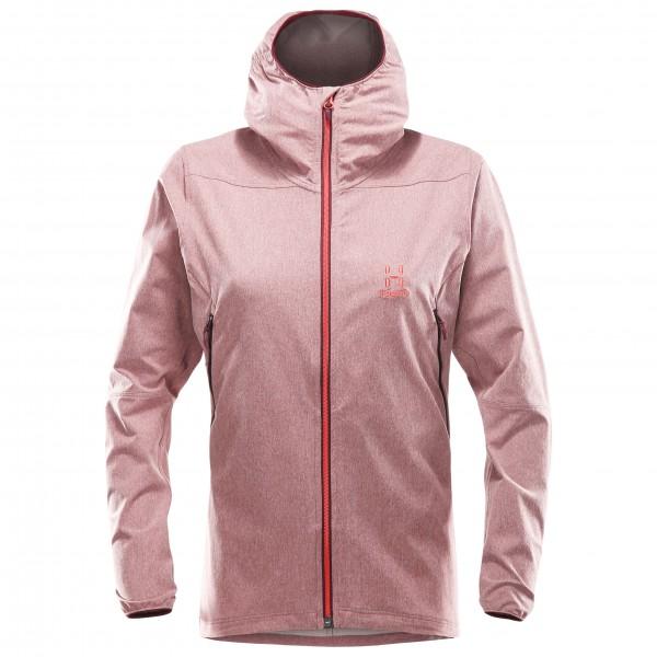 Haglöfs - Boa Hood Women Softshelljacke Gr L grau/rosa