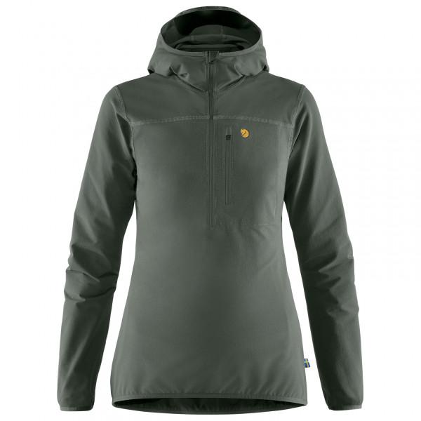 Fjllrven - Womens Bergtagen Stretch Half Zip - Softshell Jacket Size M  Black/grey/olive