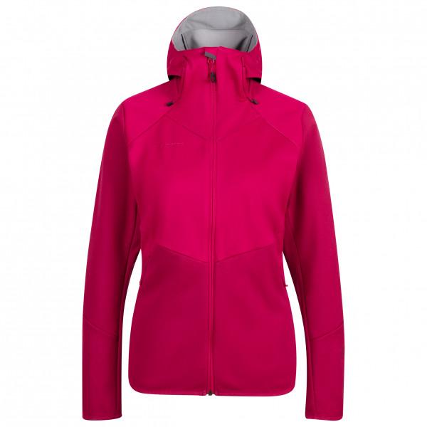 Mammut - Women's Ultimate VI Softshell Hooded Jacket - Softshelljacke Gr S rosa/rot 1011-01240-6372-113