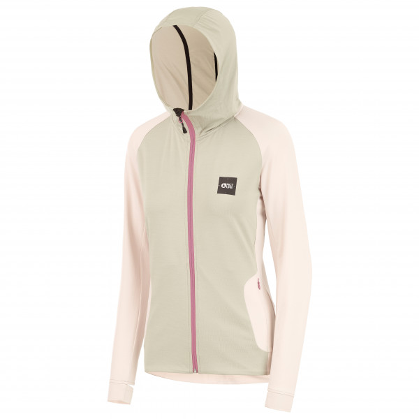 Picture - Womens Celest Zip Tech Hoodie - Training Jacket Size L  White/sand