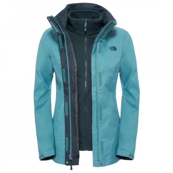 Women´s Evolution II Triclimate Jacket Gr S türkis/schwarz
