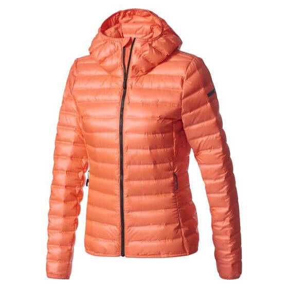 adidas - Women´s Terrex Lite Down Hooded Jacket Gr 40 orange/rot Preisvergleich