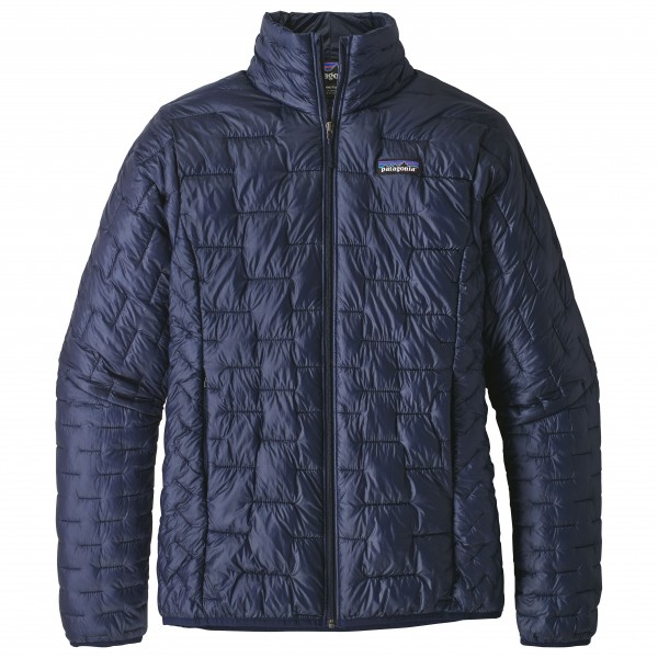 Patagonia - Womens Micro Puff Jacket - Synthetic Jacket Size Xl  Black/blue