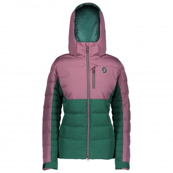 Scott - Womens Jacket Ultimate Down - Ski Jacket Size S  Turquoise/pink