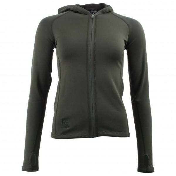 66 North - Women's Vik Hooded Jacket - Fleecejacke Gr S grün/braun