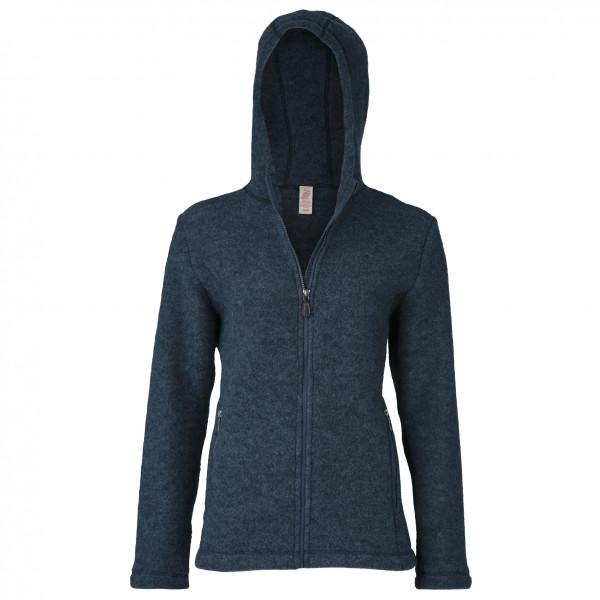 Engel - Womens Jacke Mit Kapuze - Wool Jacket Size 34/36  Black/blue