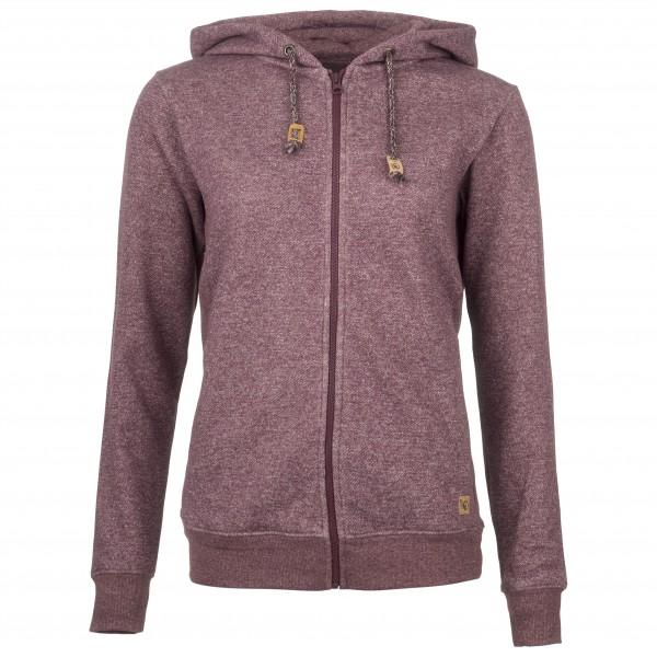 tentree - Women´s Wapta Full Zip Hoodie - Veste polaire taille L, gris/rouge