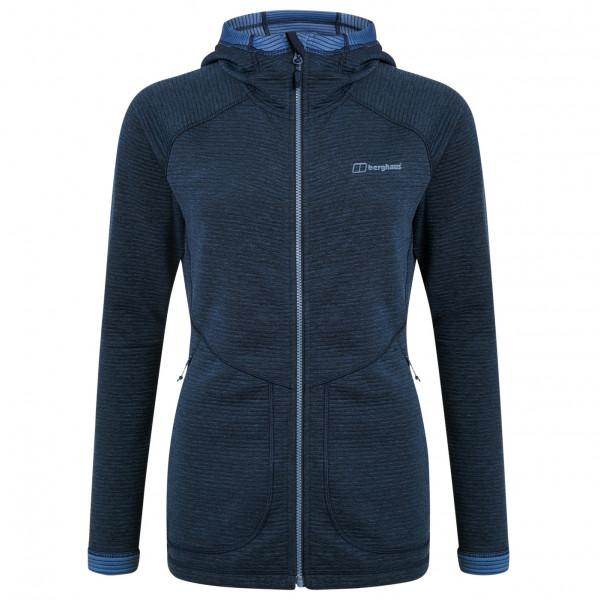 Berghaus - Womens Redonda Hooded Fleece Jacket - Fleece Jacket Size 16  Black/blue