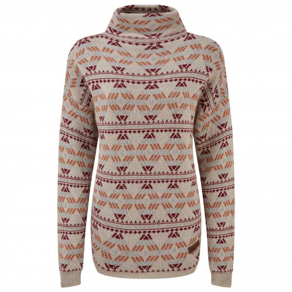 Sherpa - Womens Pema Pullover Sweater - Merino Jumper Size L  Grey/brown/sand