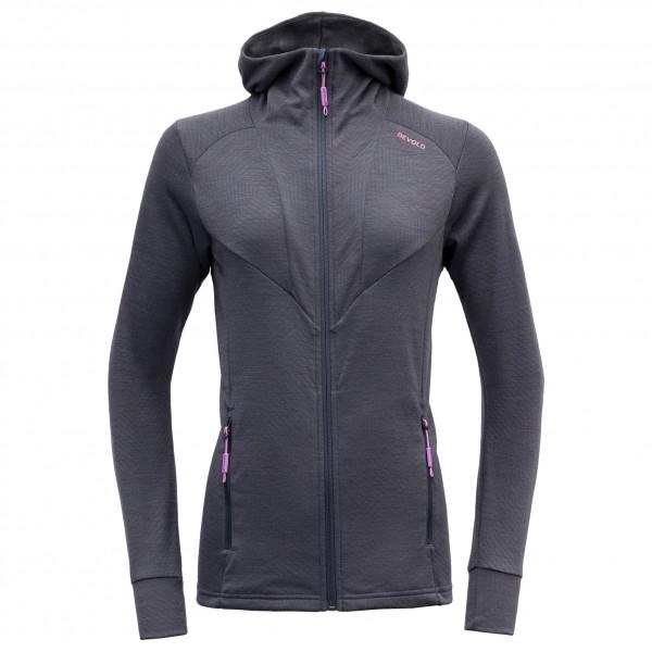 Devold - Womens Aksla Jacket With Hood - Merino Hoodie Size Xs  Black/grey