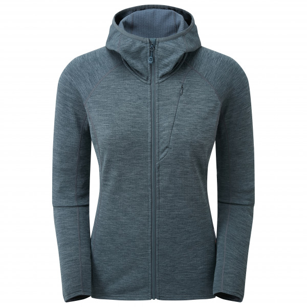 Montane - Womens Protium Hoodie - Fleece Jacket Size L  Purple/black/grey