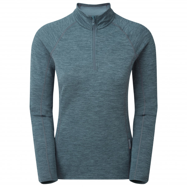 Montane - Womens Protium Pull-on - Fleece Jumper Size Xs  Purple/grey