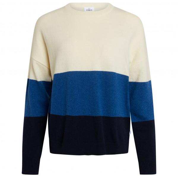 #Klitmøller Collective – Women's Chloe Knitted – Wollpullover Gr XL weiß/schwarz/blau#