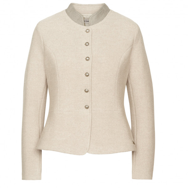 #STAPF – Women's Burgi Merino – Wolljacke Gr 38 weiß/beige#