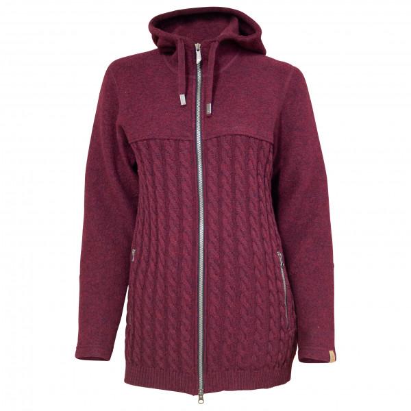 Ivanhoe Of Sweden - Womens Helny Hood Wb - Wool Jacket Size 44  Purple