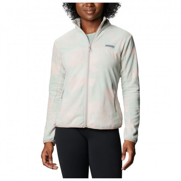 Columbia - Womens Ali Peak Full Zip - Fleece Jacket Size L  Grey/white/black