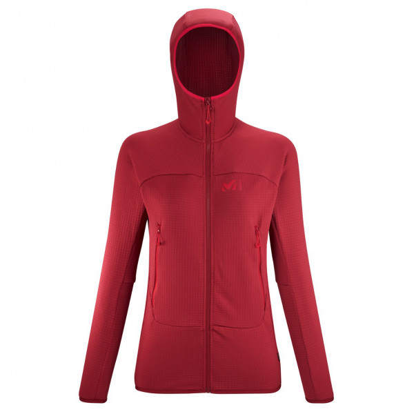 Millet - Womens Fusion Grid Hoodie - Fleece Jacket Size S  Red/pink