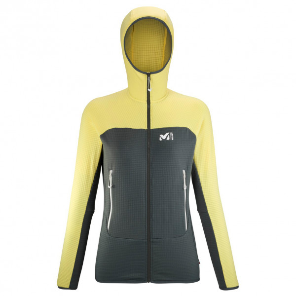Millet - Womens Fusion Grid Hoodie - Fleece Jacket Size S  Black/orange