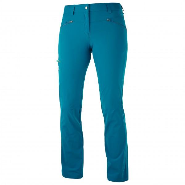 Salomon - Women's Wayfarer Pant - Trekkinghose Gr 42 - Long blau/türkis