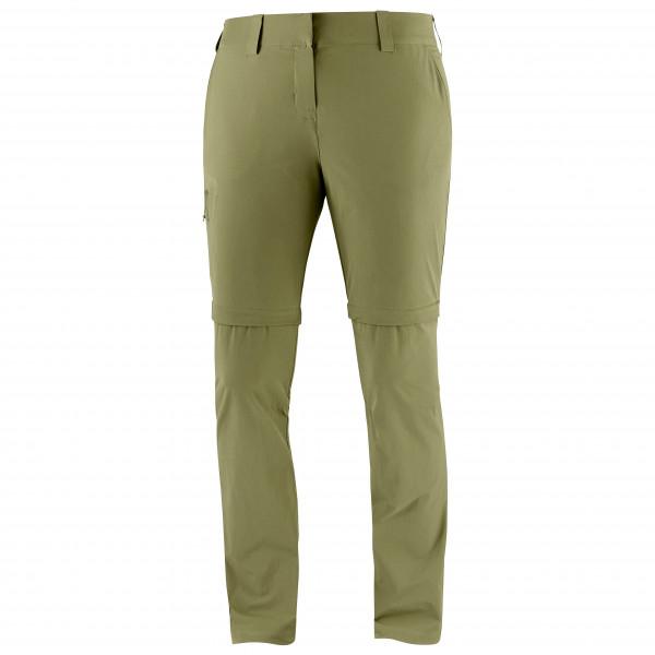 Salomon - Womens Wayfarer Zip Pant - Walking Trousers Size 34  Olive/grey