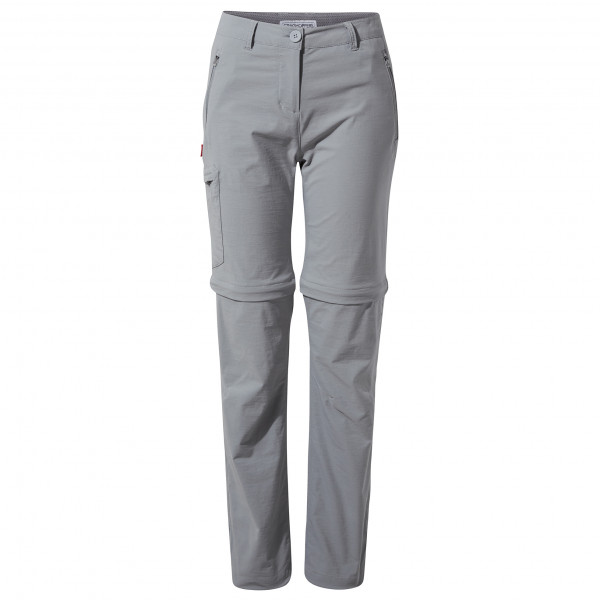 Craghoppers - Womens Nosilife Pro Convertible Trousers - Walking Trousers Size 40 - Short  Grey