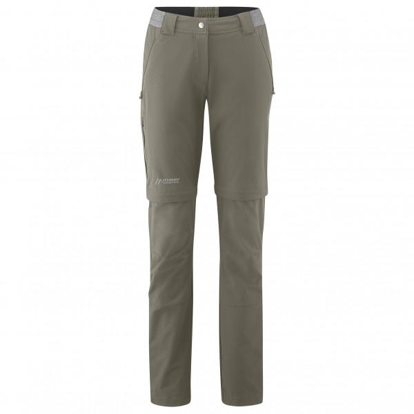 Maier Sports - Womens Norit Zip 2.0 - Walking Trousers Size 42 - Regular  Grey/olive
