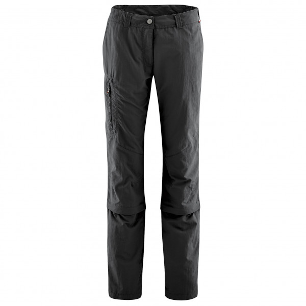 Maier Sports - Womens Fulda - Zip-off Trousers Size 23 - Short  Black/grey