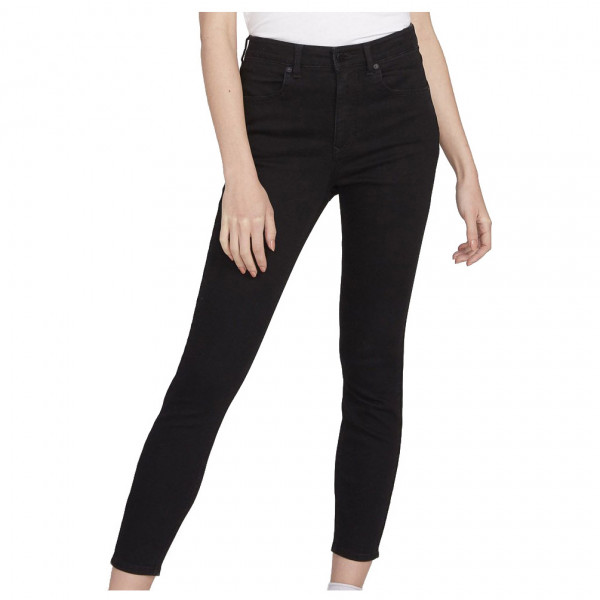 volcom - women's liberator legging - jeans maat 28 - length: 30, zwart/beige