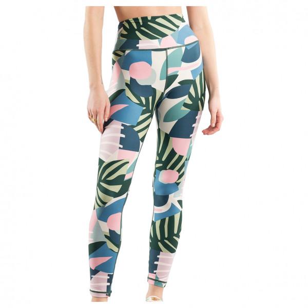 Dedicated - Womens Tights Kaxholmen Collage - Leggings Size Xs  Grey/sand