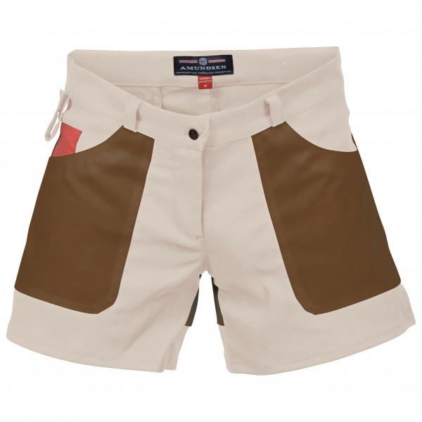 Amundsen Sports - Women´s 5 Incher Fields - Shorts Gr M braun/weiß/beige Preisvergleich