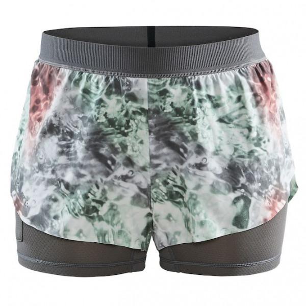 Craft - Womens Vent 2 In 1 Racing Shorts - Running Shorts Size Xl  Grey/black
