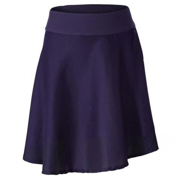royal robbins - women's cool mesh eco skirt ii - rok maat xs, zwart/purper