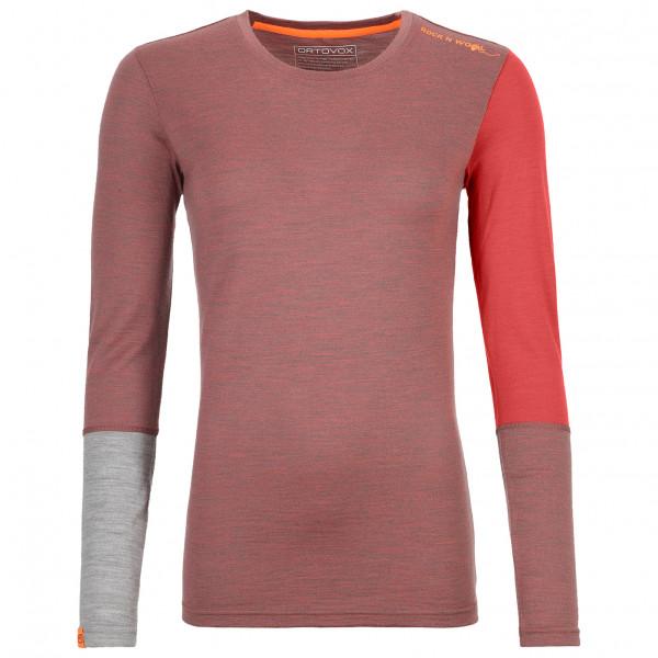 Ortovox - Womens Merino 185 R n W Long Sleeve - Merino Base Layer Size Xl  Pink/red