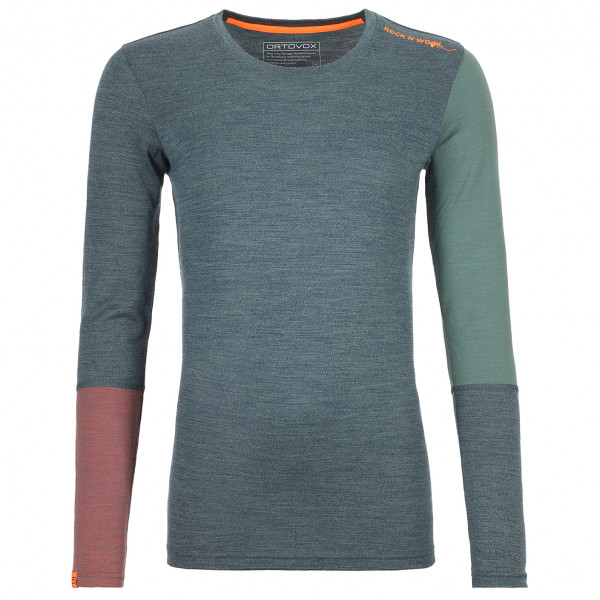 Ortovox - Womens Merino 185 R n W Long Sleeve - Merino Base Layer Size Xs  Grey/purple