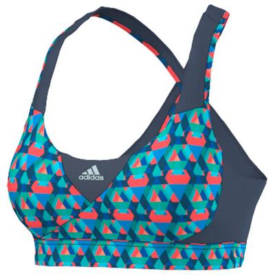 adidas Women´s Supernova Graphic Bra Sportbeha maat XS blauw-turkoois