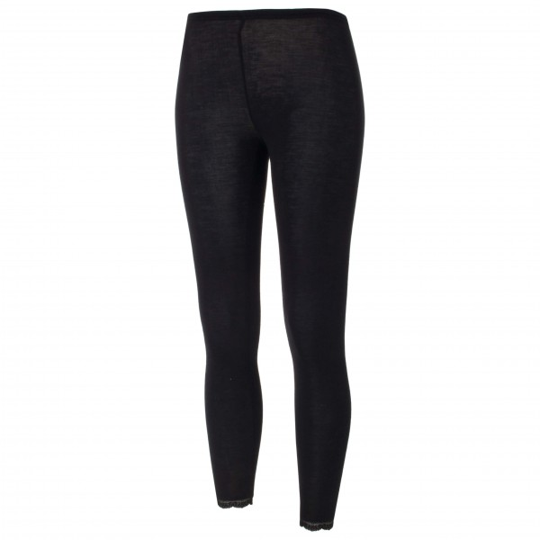 Engel - Womens Leggings Mit Spitze - Merino Base Layer Size 42/44  Black
