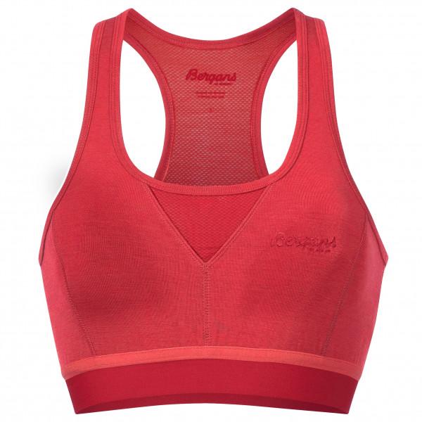 Bergans - Women's Cecilie Wool Top - Sport-BH Gr L;M;XS rosa/rot 8826