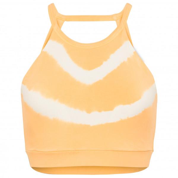Mandala - Women's Tie-Dye Halterneck Bra - Sport-BH Gr L beige/weiß BR22JE28